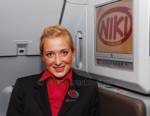 FlyNiki Anita Hörandl, Senior auf dem Flug Nizza - Wien